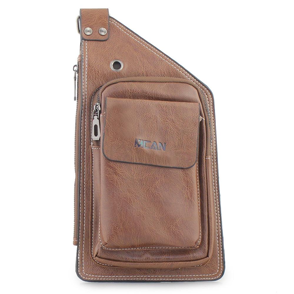Ανδρικές τσάντες ώμου με εξωτερική τσέπη Ταμπά