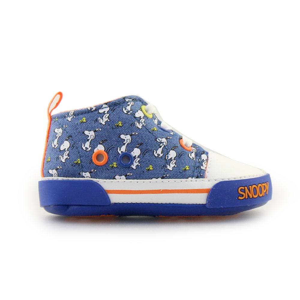 Παιδικά sneakers πολύχρωμα με το Snoopy Τζιν