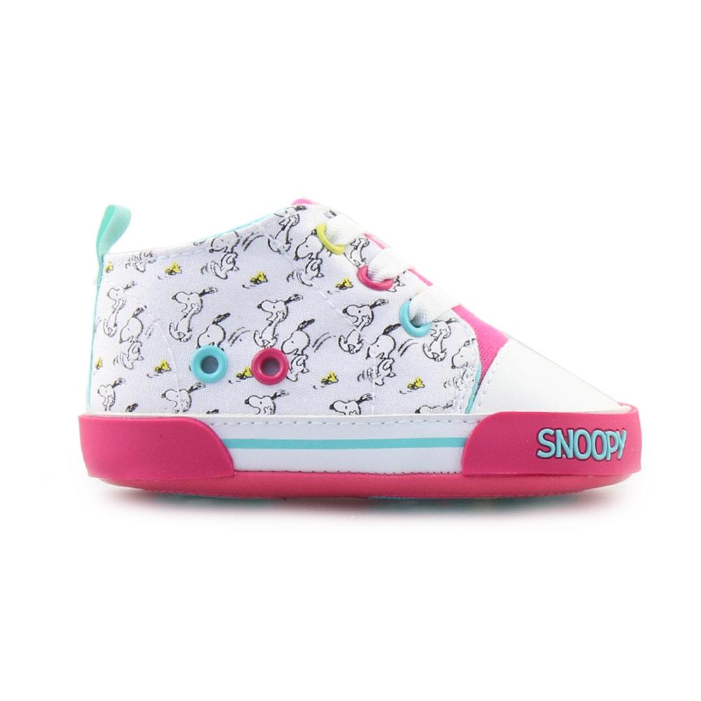 Παιδικά sneakers πολύχρωμα με το Snoopy Λευκό