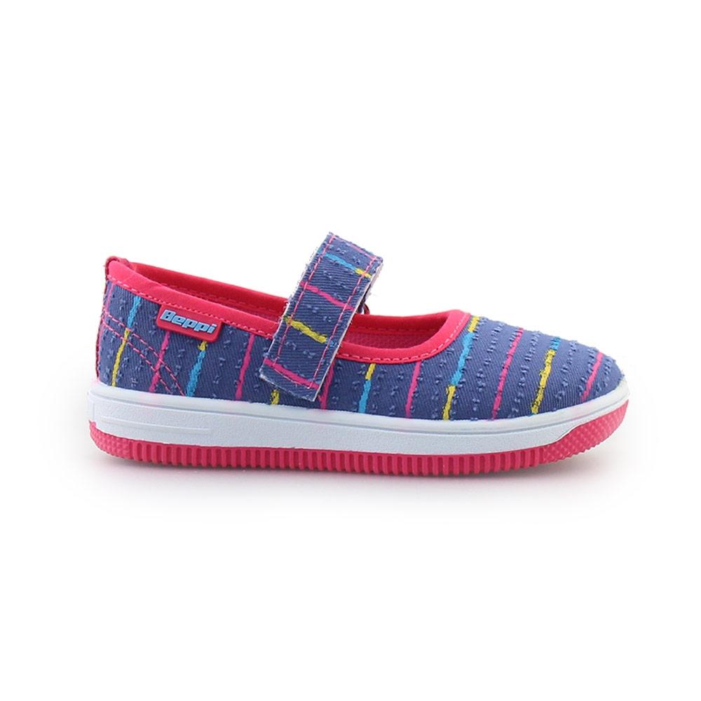 Παιδικά sneakers με πολύχρωμες ρίγες Μπλε