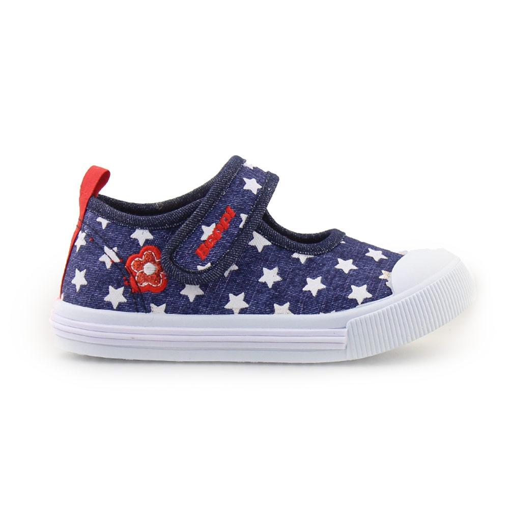 Παιδικά sneakers με λάστιχο και αστεράκια Μπλε
