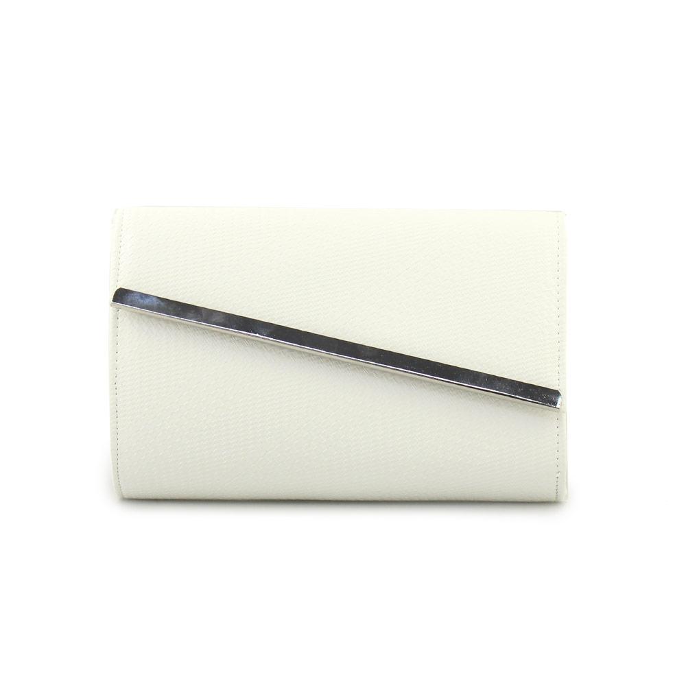 Γυναικείοι φάκελοι με πλεκτό μοτίβο Λευκό