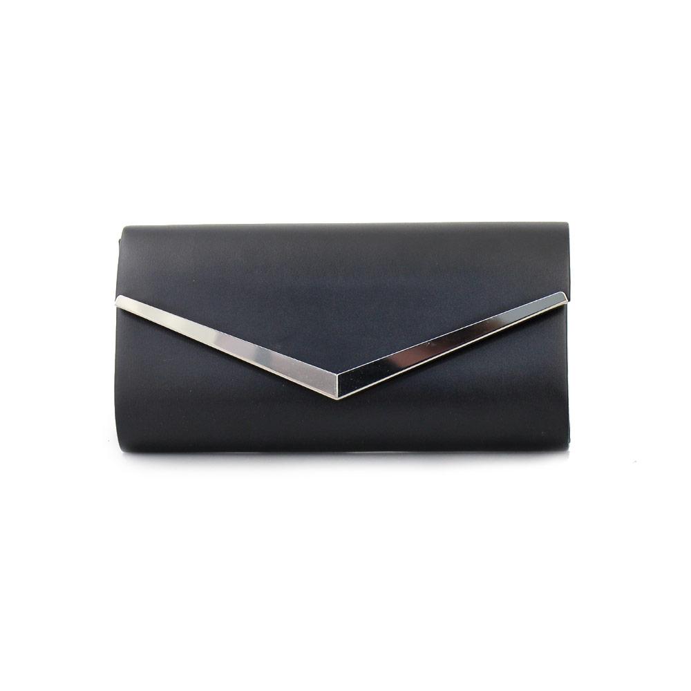 2da907b81 Γυναικείοι φάκελοι με μεταλλικό διακοσμητικό Μαύρο