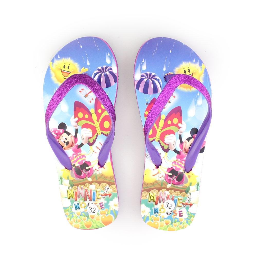 Παιδικές σαγιονάρες με Minnie Mouse Μωβ