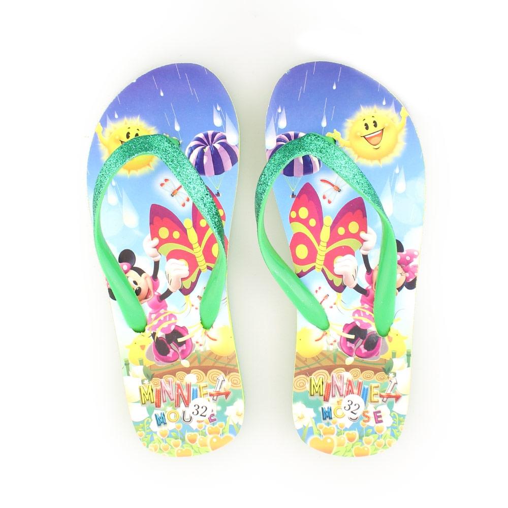 Παιδικές σαγιονάρες με Minnie Mouse Πράσινο