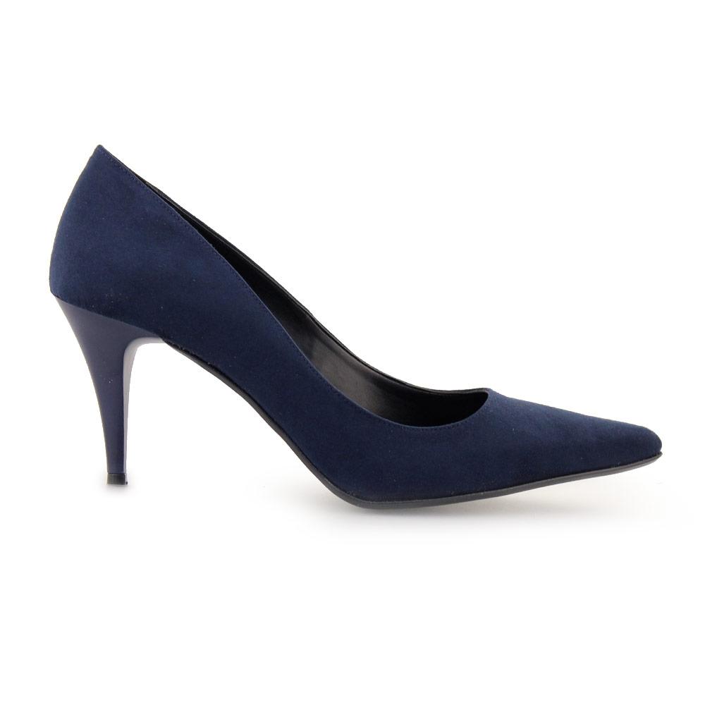 Γυναικείες γόβες με χαμηλό τακούνι Μπλε