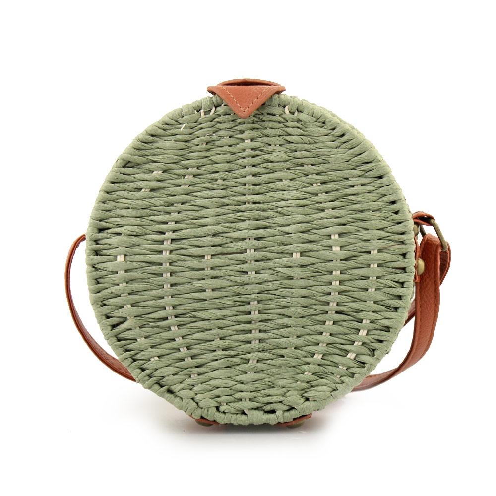 Γυναικείες τσάντες ώμου ψάθινες Πράσινο