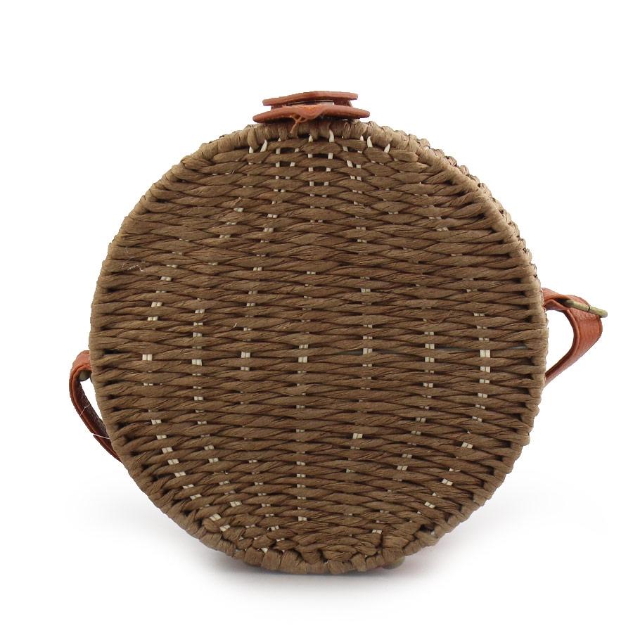 Γυναικείες τσάντες ώμου ψάθινες Καφέ