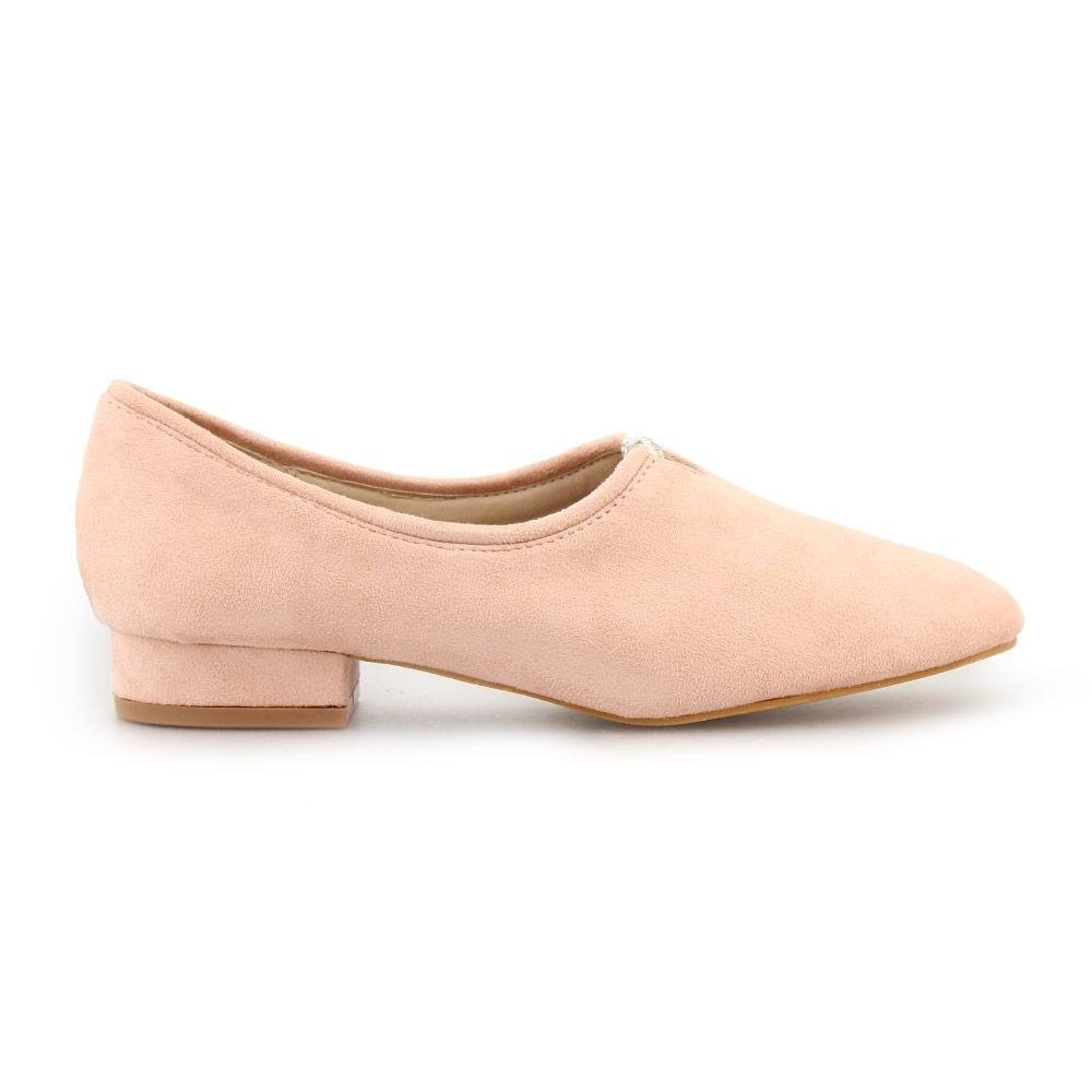 Γυναικεία loafers με διακοσμητικά διαμάντια Ροζ