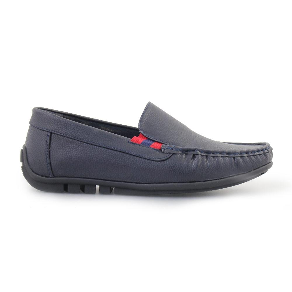 Ανδρικά loafers με διακοσμητικά γαζιά Μπλε