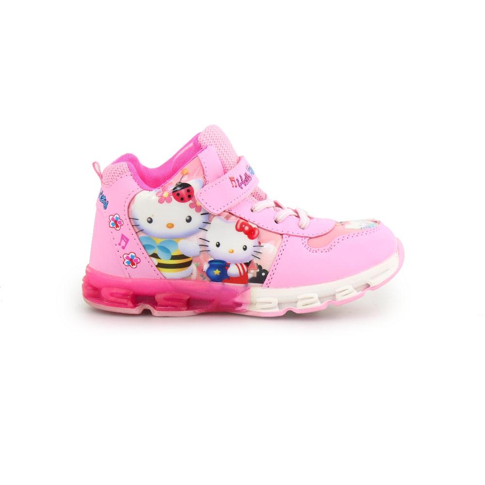 Παιδικά αθλητικά Hello Kitty με φωτάκια Ροζ