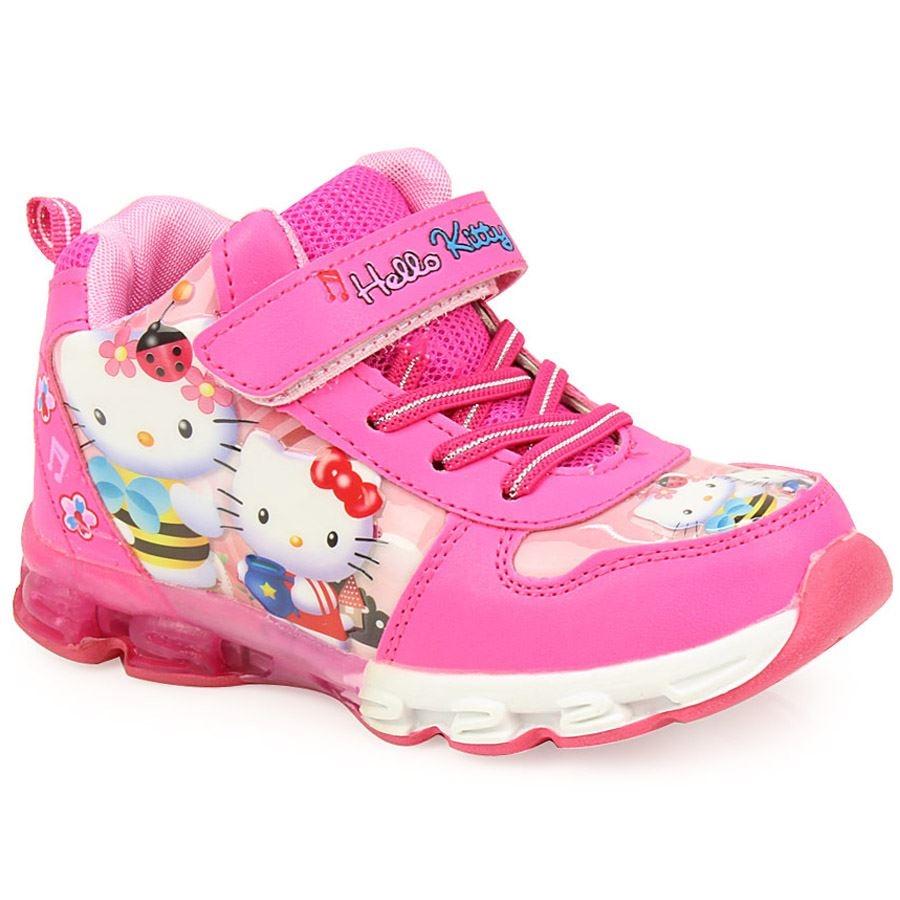Παιδικά αθλητικά Hello Kitty με φωτάκια Φούξια