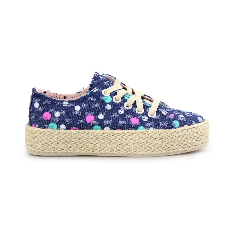 Παιδικά sneakers με πολύχρωμους κύκλους Navy