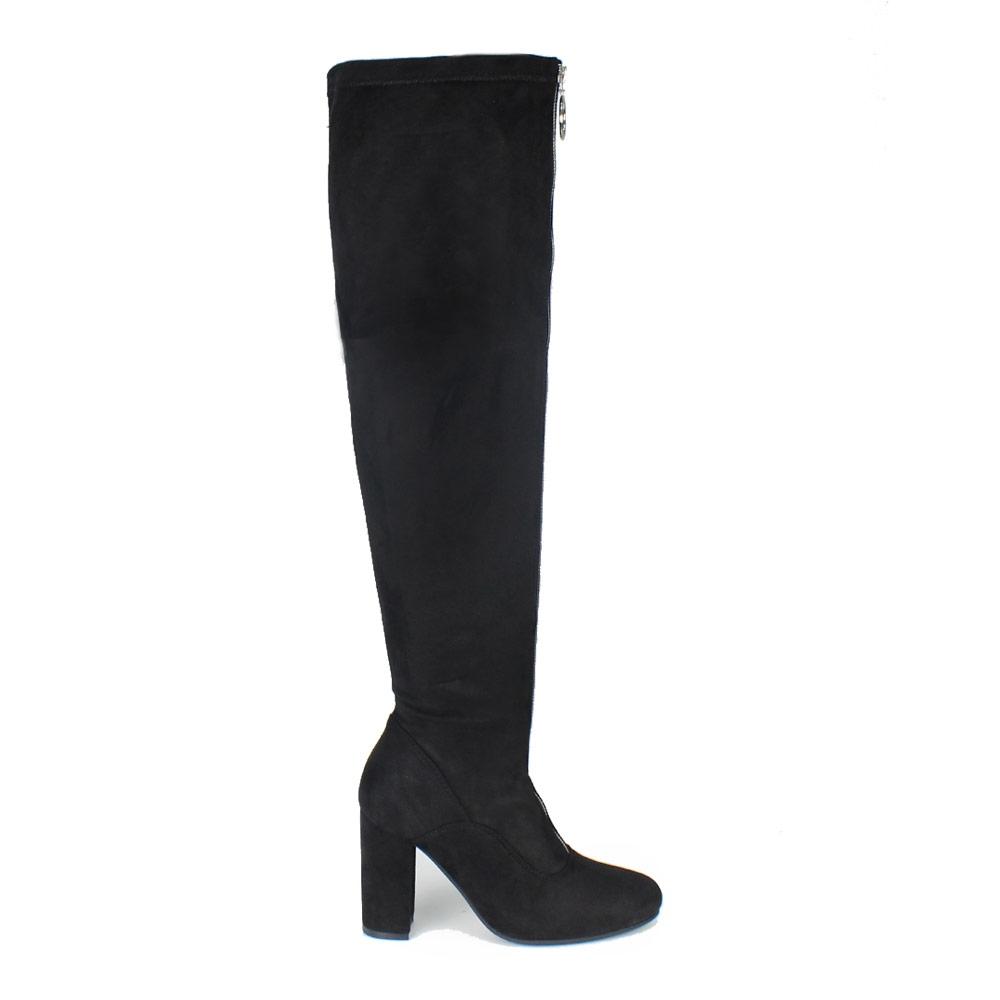Γυναικείες μπότες με φερμουάρ Μαύρο