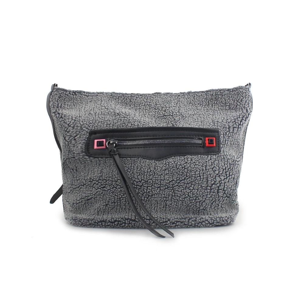 Γυναικείες τσάντες ώμου με εξωτερική θήκη Γκρι