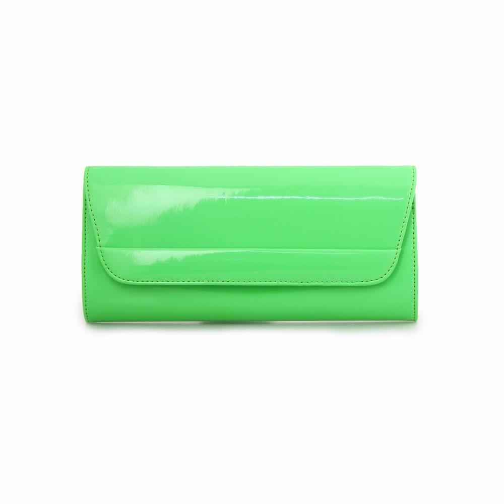 Γυναικείοι φάκελοι μονόχρωμοι με αλυσίδα Πράσινο