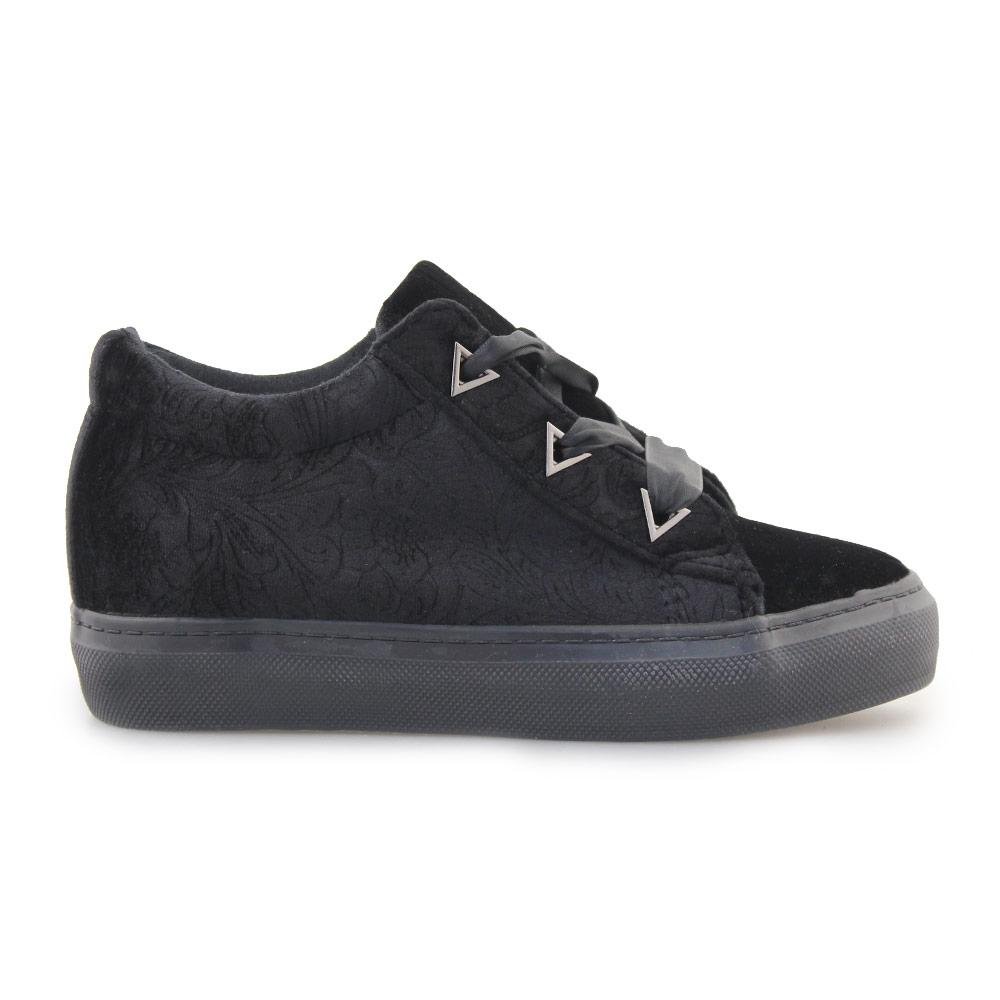 Γυναικεία sneakers με ανάγλυφο σχέδιο Μαύρο