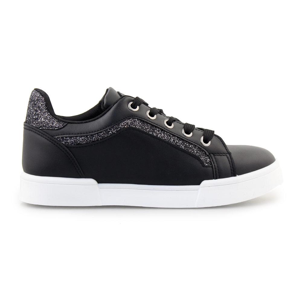 Γυναικεία sneakers με glitter Μαύρο