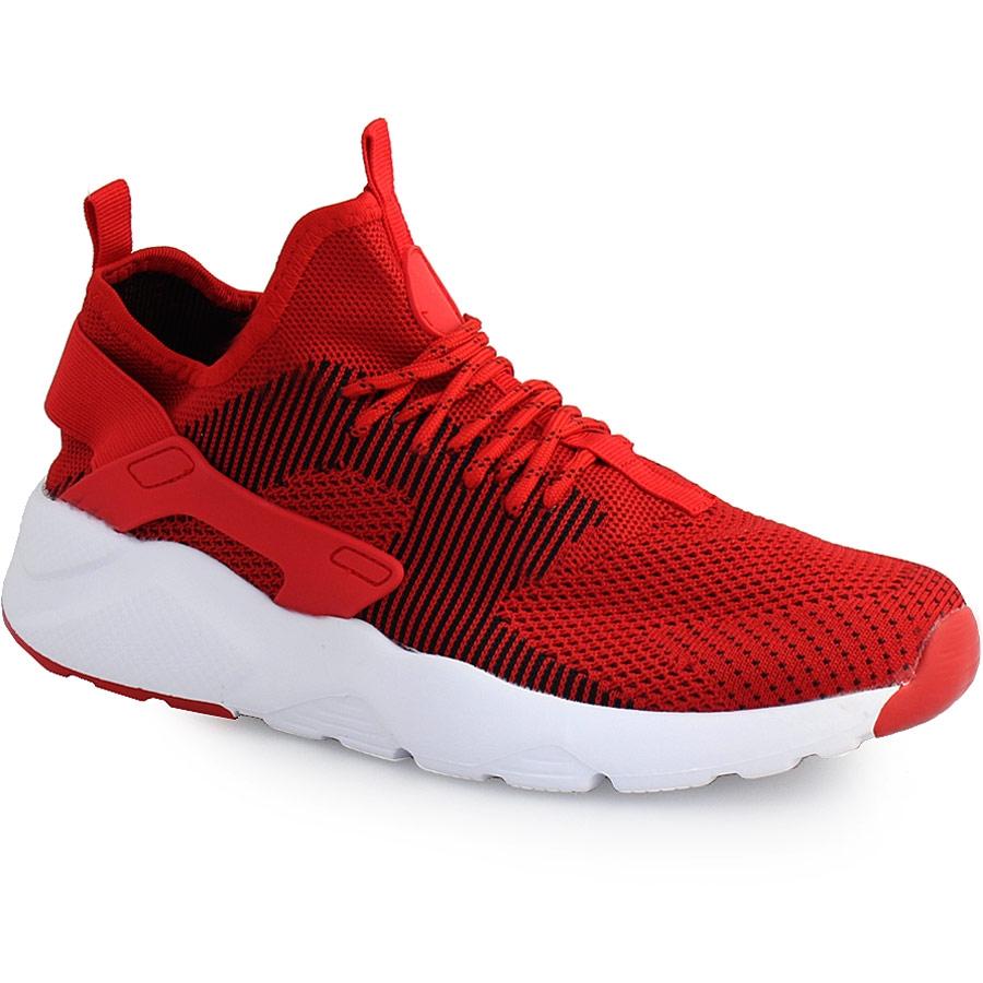 Ανδρικά sneakers με λάστιχο στο πίσω μέρος Κόκκινο
