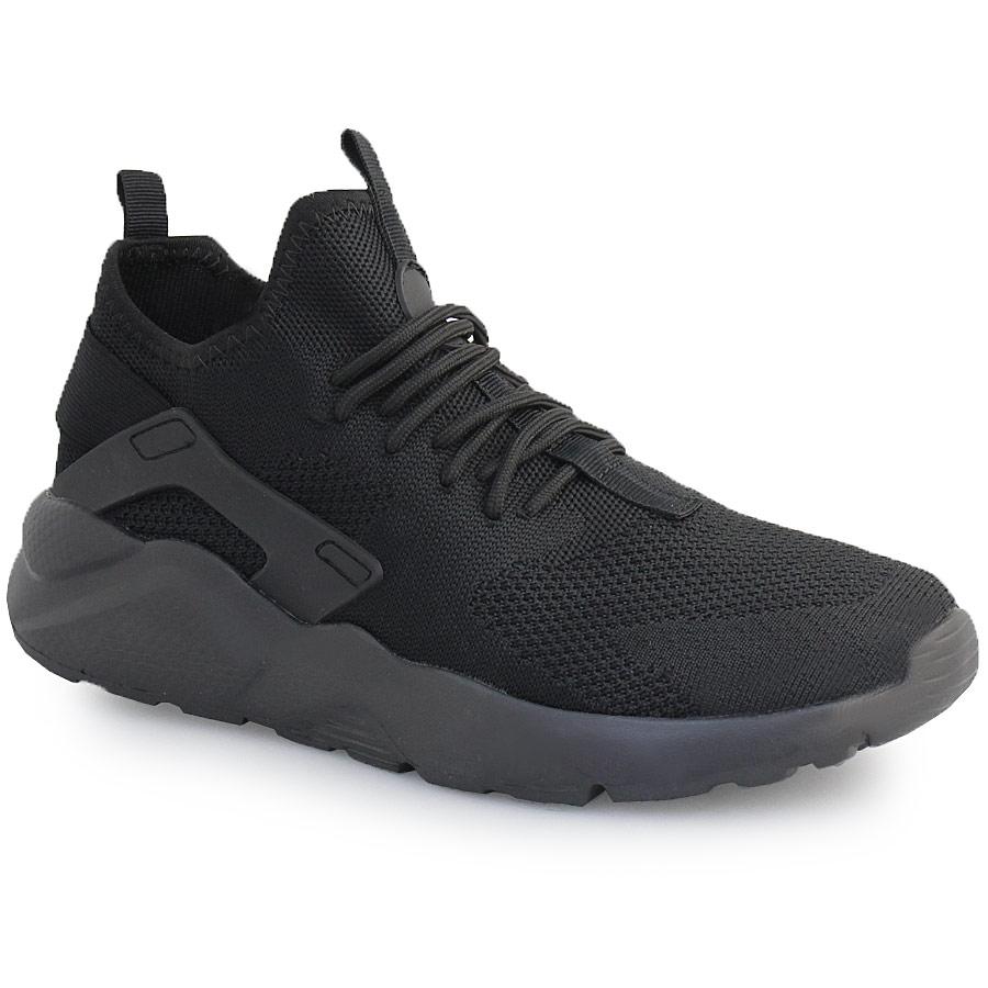 Ανδρικά sneakers με λάστιχο στο πίσω μέρος Μαύρο