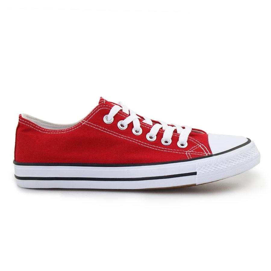 Ανδρικά sneakers με κορδόνια Κόκκινο