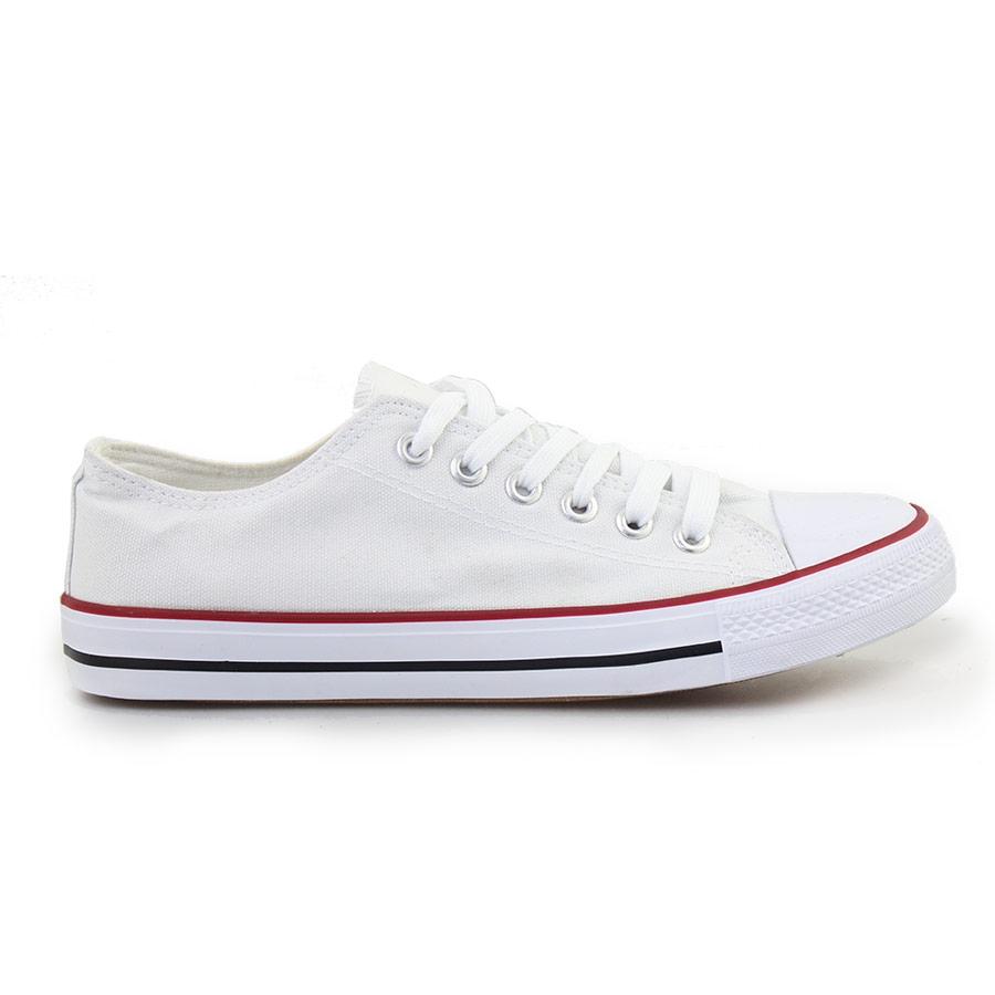 Ανδρικά sneakers με κορδόνια Λευκό