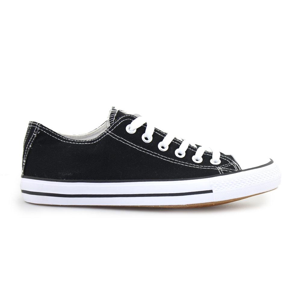 Ανδρικά sneakers με κορδόνια Μαύρο