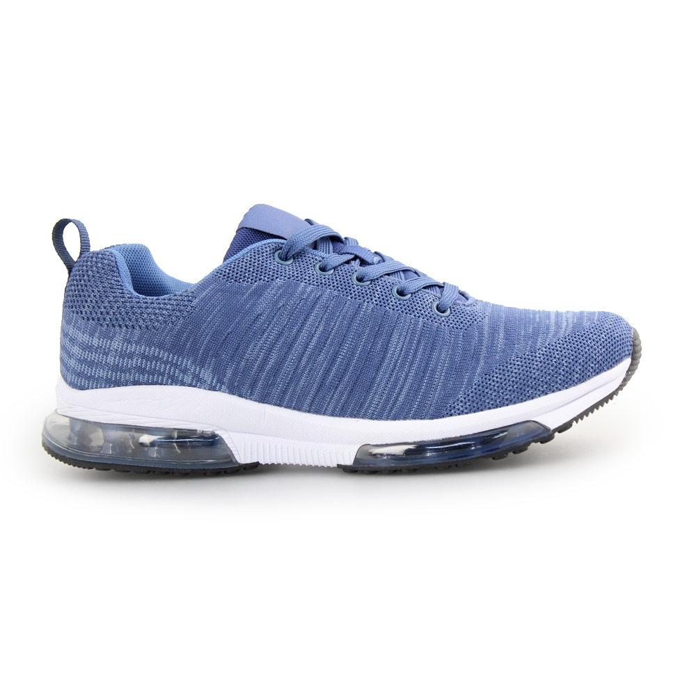 Ανδρικά sneakers με σχέδιο και αερόσολα Μπλε