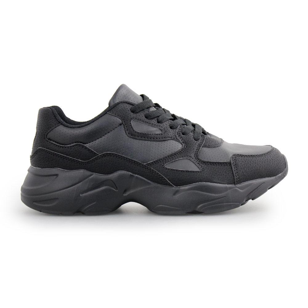 Ανδρικά sneakers με ανάγλυφες λεπτομέρειες Μαύρο