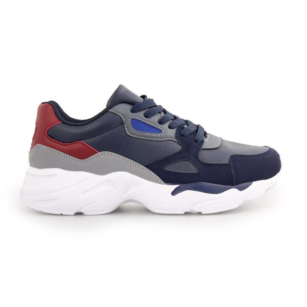 Ανδρικά sneakers με ανάγλυφες λεπτομέρειες Μπλε
