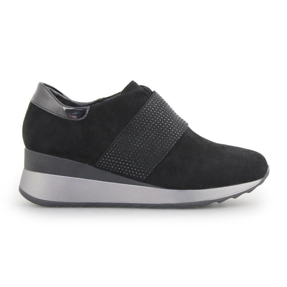 Γυναικεία sneakers με strass Μαύρο