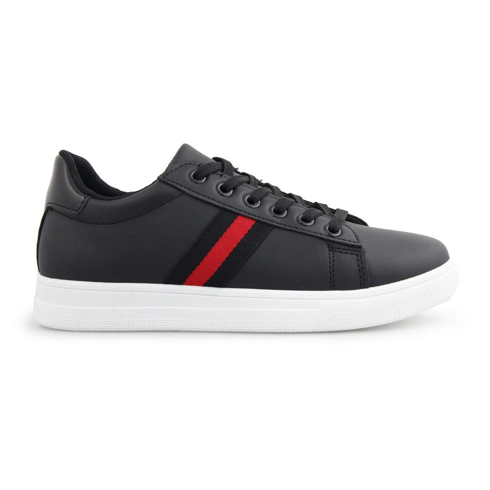 Γυναικεία sneakers με διακοσμητική λεπτομέρεια Μαύρο/Λευκό