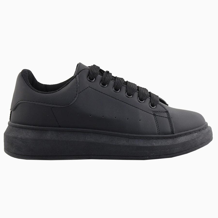 Ανδρικά sneakers μονόχρωμα με λεπτομέρεια Μαύρο