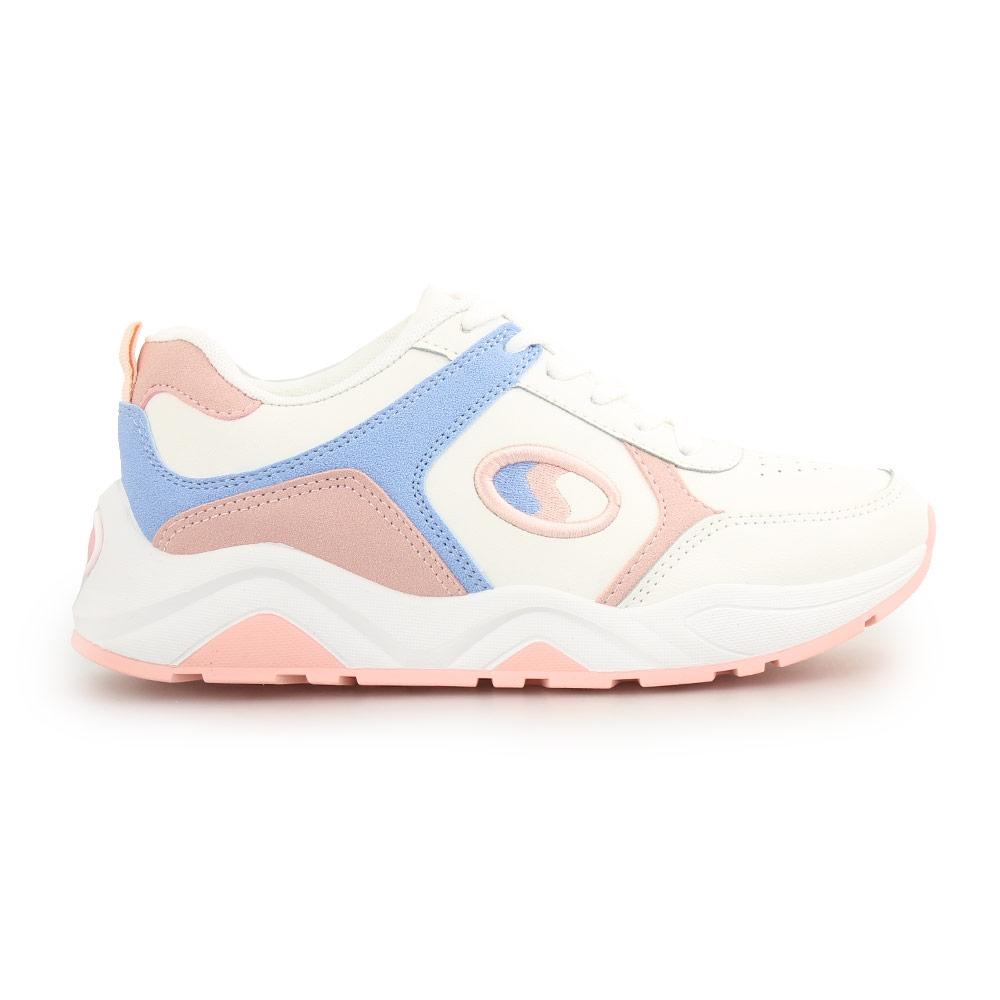 Γυναικεία sneakers με πολύχρωμα Λευκό/Ροζ