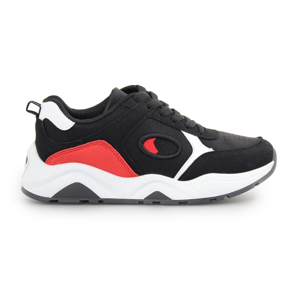 Γυναικεία sneakers με πολύχρωμα Μαύρο/Λευκό