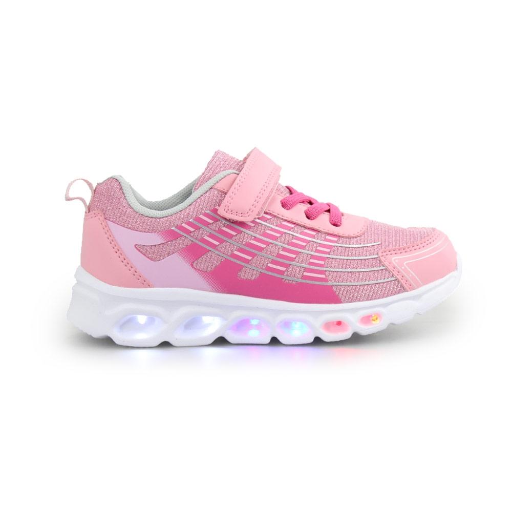 Παιδικά αθλητικά με φωτάκια και glitter Ροζ/Φούξια