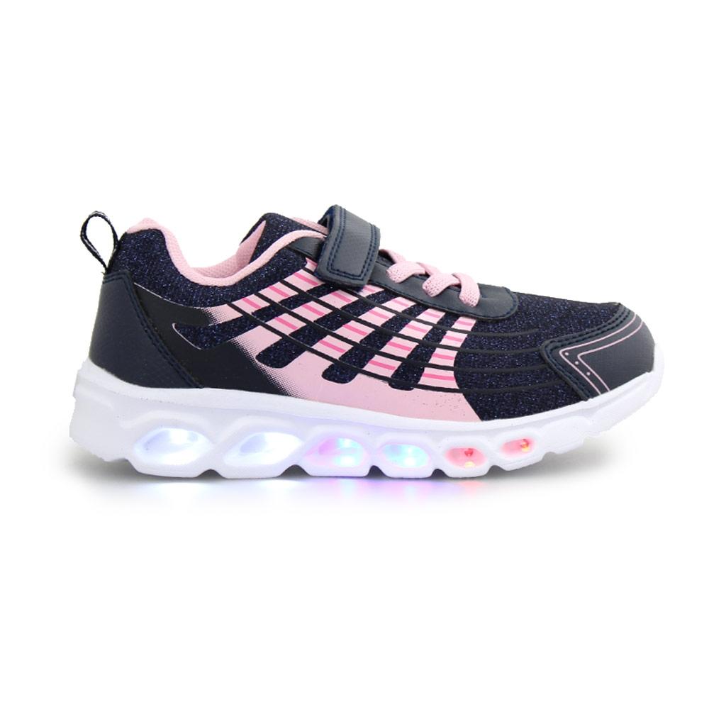 Παιδικά αθλητικά με φωτάκια και glitter Navy/Ροζ
