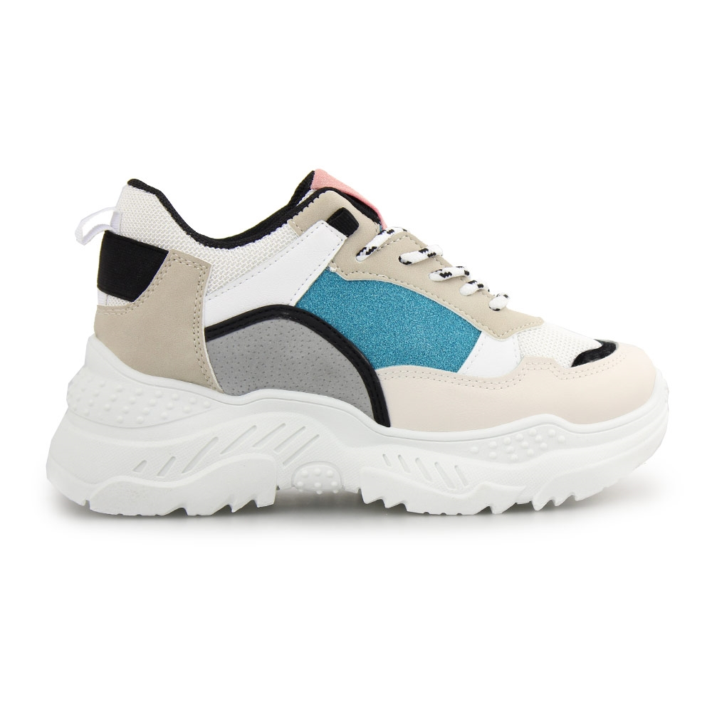 Γυναικεία sneakers πολύχρωμα Λευκό/Πράσινο