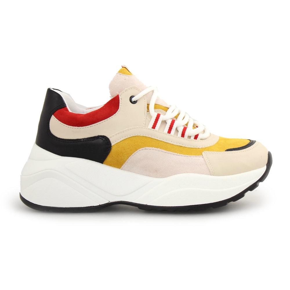Γυναικεία sneakers πολύχρωμα Κίτρινο