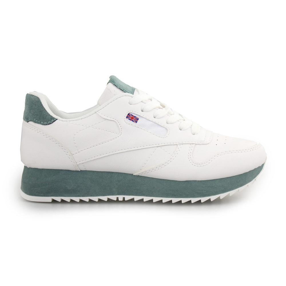 Γυναικεία sneakers δίχρωμα Λευκό/Πράσινο