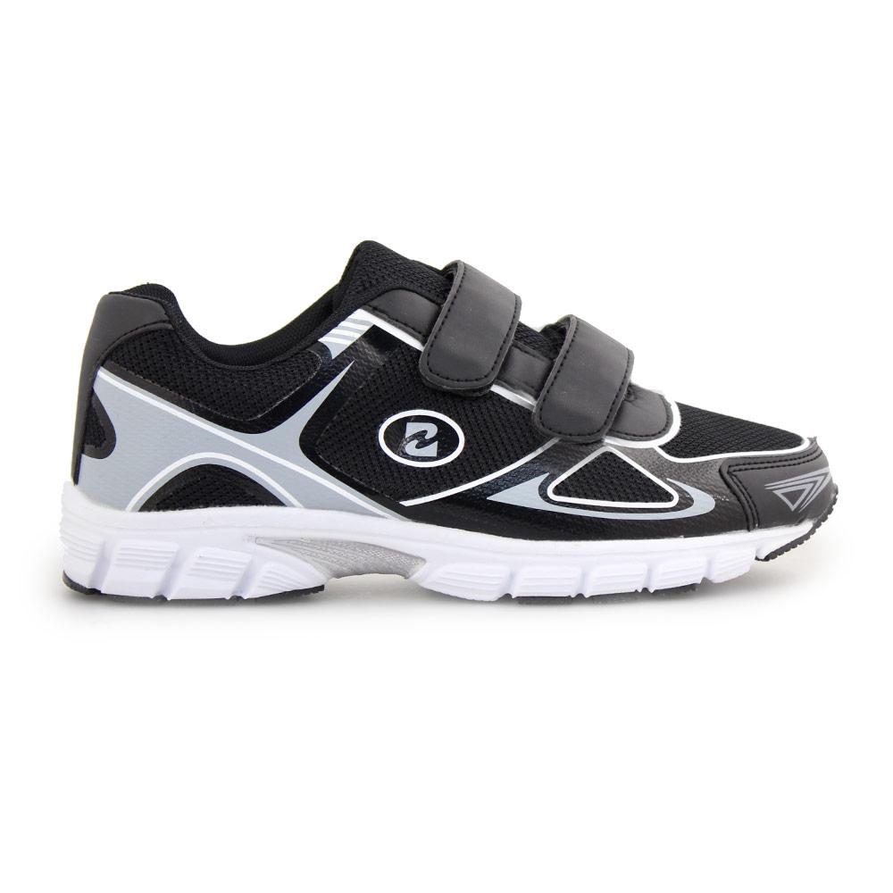 Γυναικεία sneakers με αυτοκόλλητα Μαύρο/Λευκό
