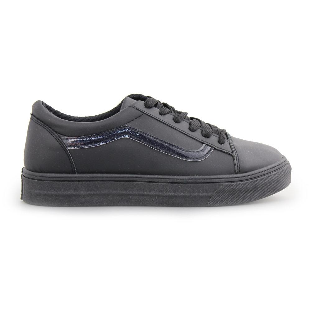 Γυναικεία sneakers με λεπτομέρεια με glitter Μαύρο