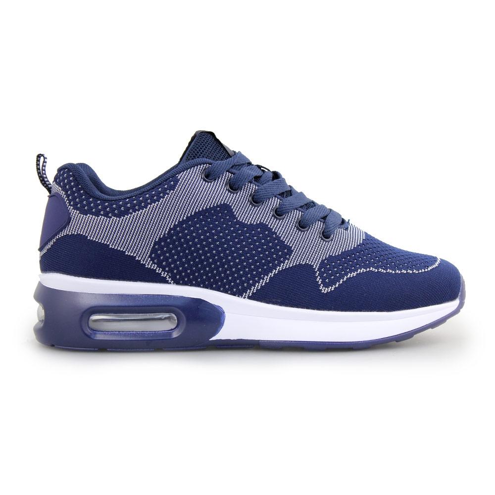 Ανδρικά sneakers δίχρωμα με αερόσολα Μπλε