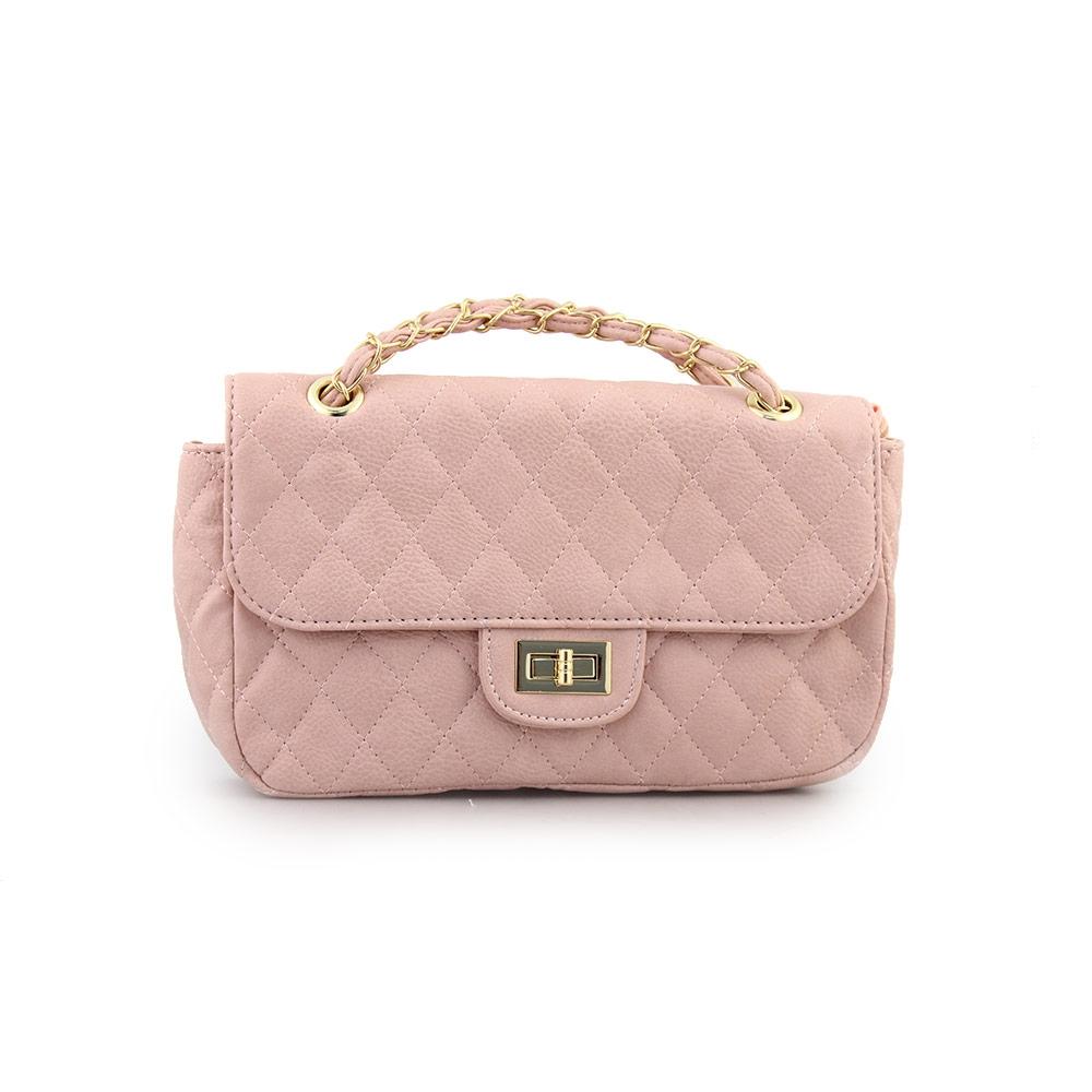 Γυναικείες τσάντες ώμου καπιτονέ Ροζ