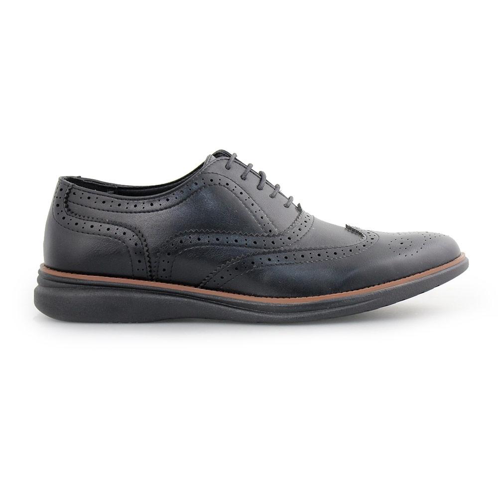 Ανδρικά loafers περφορέ Μαύρο