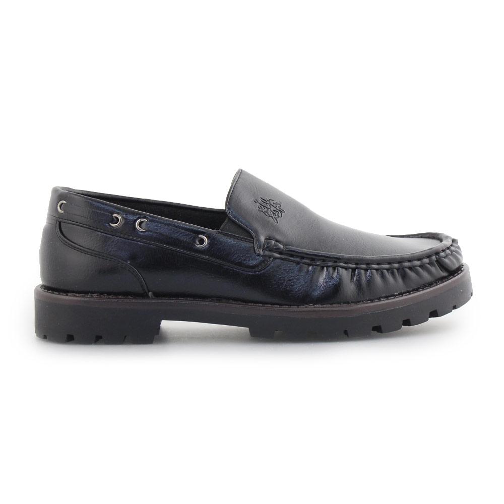 Ανδρικά loafers με τρακτερωτή σόλα Μαύρο