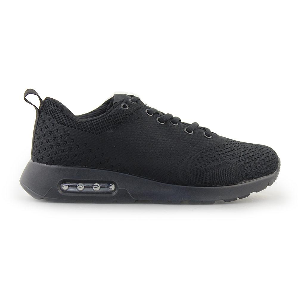 Ανδρικά Sneakers με πλεκτό σχέδιο και αερόσολα Μαύρο