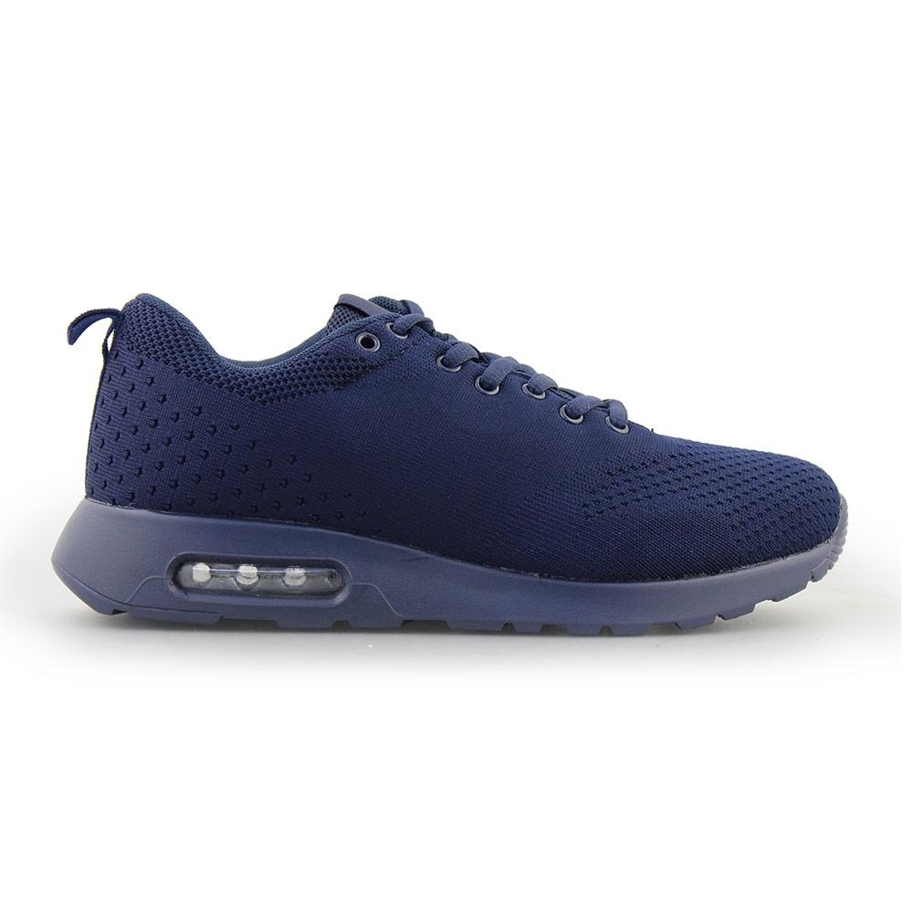 Ανδρικά Sneakers με πλεκτό σχέδιο και αερόσολα Μπλε