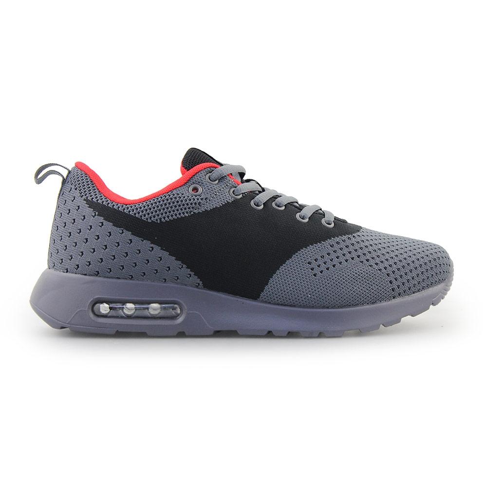 Ανδρικά Sneakers με πλεκτό σχέδιο και αερόσολα Γκρι/Μαύρο