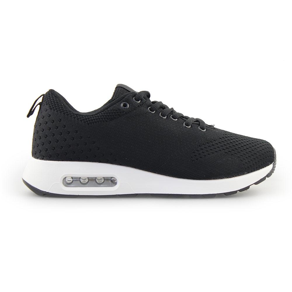 Ανδρικά Sneakers με πλεκτό σχέδιο και αερόσολα Μαύρο/Λευκό